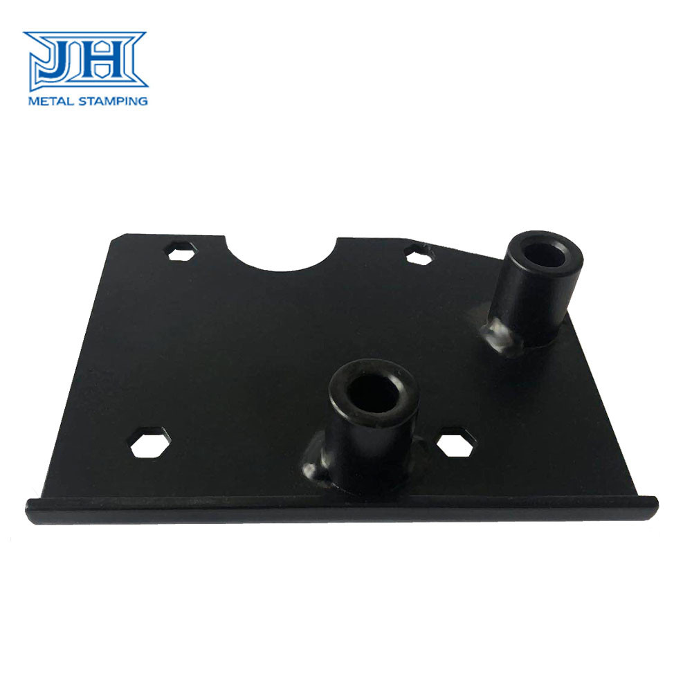 Black Laser Cutting Components Q235 Sheet Metal Steel ISO 9001 Ceritification